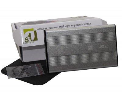 "Зовнішній кишеню 1StCharger SATA HDD/SSD 2.5"", USB 2.0, Silver (HDE1STU2520BS)"
