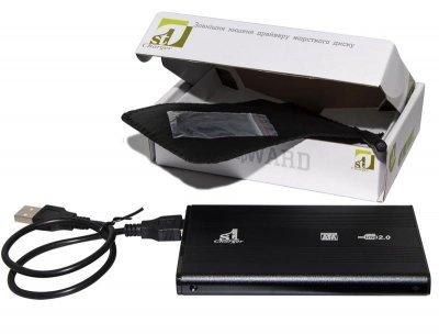 """Зовнішній кишеню 1StCharger SATA HDD/SSD 2.5"""", USB 2.0, Black (HDE1STU2520B)"""