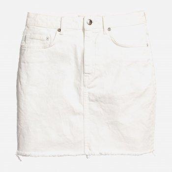 Юбка джинсовая H&M 5489616 Белая