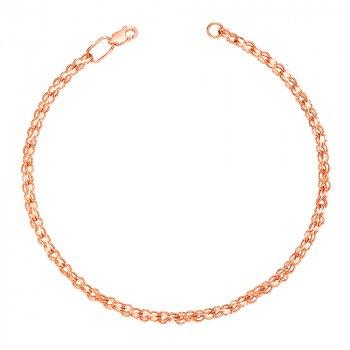 Золотой браслет в плетении бисмарк ручеек 000101567