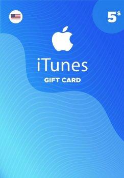Подарункова карта iTunes Apple / App Store Gift Card 5 usd US-який регіон