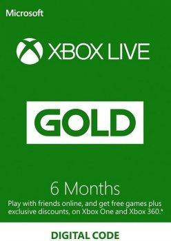 Xbox Live Gold - 6 місяців Xbox 360 / One / Series підписка для всіх регіонів і країн