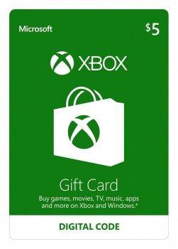 Электронный код Xbox Live / Gift Card пополнение бумажника счета своего аккаунта на сумму 5 usd US-регион