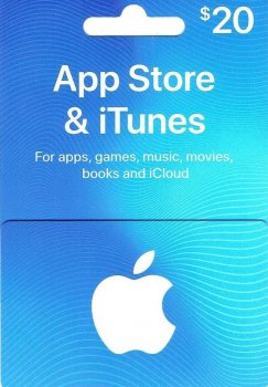 Подарочная карта iTunes Apple / App Store Gift Card 20 usd US-регион