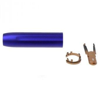 Нижня частина корпуса + Кнопка для держателя IQOS (Айкос) 2.4/2.4 Plus (Плюс) Пластик Металік Синій