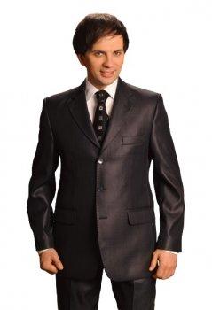 Чоловічий костюм West-Fashion 067 темно-синій 170