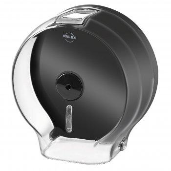 Диспенсер рулонної туалетного паперу Palex 34442 прозоро сірий