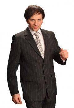 Мужской костюм West-fashion KF-44 полоска 182