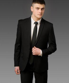 Мужской костюм West-Fashion А-75А черный 182