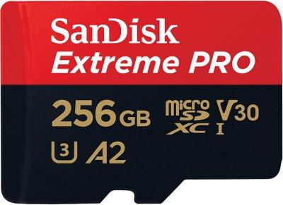 SanDisk microSDXC 256GB C10 UHS-I U3 A2 Extreme Pro V30 + SD-adapter (SDSQXCZ-256G-GN6MA)