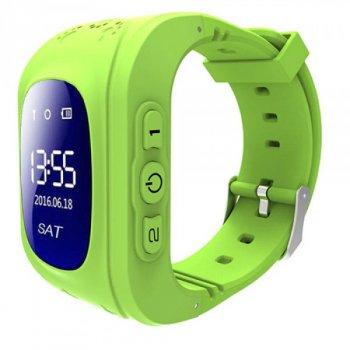 Дитячі розумні годинник-телефон з GPS трекером Smart Watch Q50 PREMIUM green baby watch дитячі годинники телефон наручні з трекером ( для хлопчика і дівчинки )