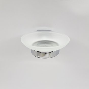 Мыльница круглая матовая для ванной JM (7258R)