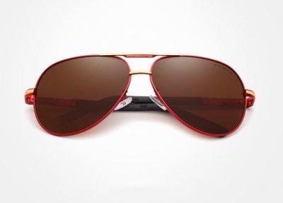 Винтажные солнцезащитные очки KINGSEVEN Красно-коричневые (sv0196)