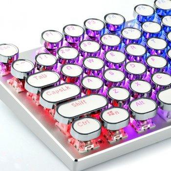 Набор ретро кейкапов Woopower на 104 клавиши для механической клавиатуры Английские Белый с серебристым (sv0311)