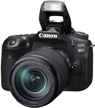 Фотоапарат Canon EOS 90D EF-S 18-135 mm IS USM Kit Black (3616C029) Офіційна гарантія!