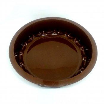 Силіконова форма для пирога MagicKitchen №629 Регіна 21х5 см коричнева