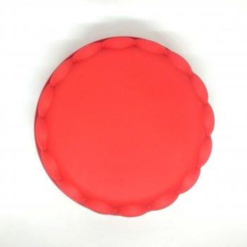 Силіконова форма для пирога MagicKitchen №629 Регіна 21х5 см червона