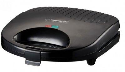 Бутербродниця гриль Esperanza EKT009 Tortilla 1000W Чорна (gr_014618)