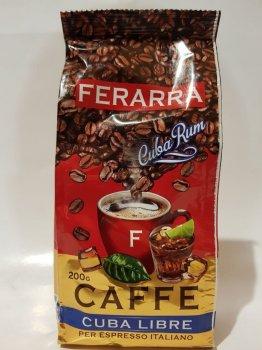 Кава в зернах Ferarra Caffe Cuba Libre з ароматом кубинського рому 200г