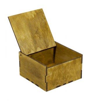 Подарункова коробка Unison квадратна коричнева 12,5х12,5х7,5см (BWR-A1)