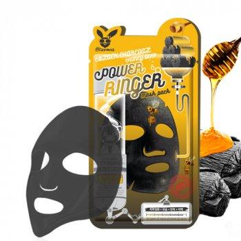 Очищающая питательная маска Elizavecca Black Charcoal Honey Deep Power Ringer Mask Pack с древесным углем и медом 23 мл (8809520943062)