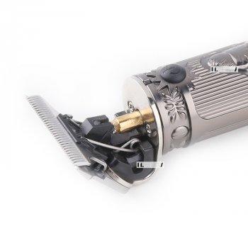 Машинка для стрижки волос профессиональная триммер для бороды окантовочная машинка Kemei 10W Silver (KM-700H)