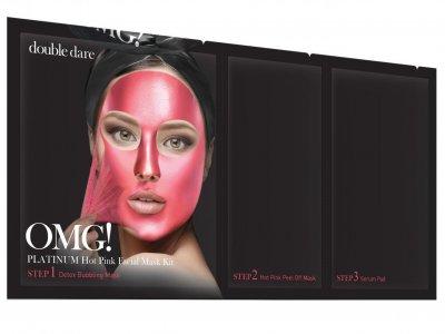 Трехкомпонентный комплекс масок Double Dare Omg! Platinum Hot Pink Facial Mask Kit Сияние и Ровный тон 1 шт (812772011869)