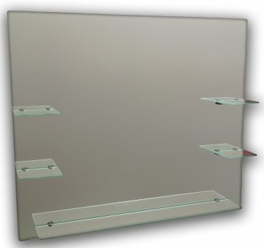 Зеркало квадратное с полочками Seria A №69 (687х800х120 мм)