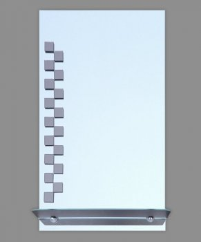 Зеркало Seria A № У-15 м (1П) прямоугольное, с полочкой 687х400х120 мм