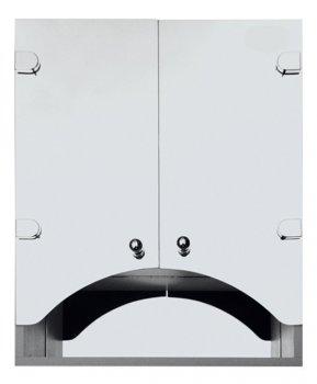 Зеркальный шкаф в ванную Seria A № А07-60 с фасадами в виде арки