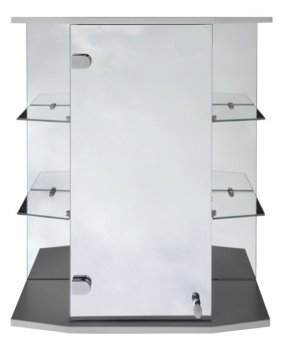 Зеркальный шкаф в ванную Seria A № А09-60 с открытыми боковыми полками