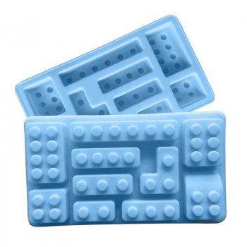 Форма для льда силиконовая Stenson Тетрис голубая MH-3419