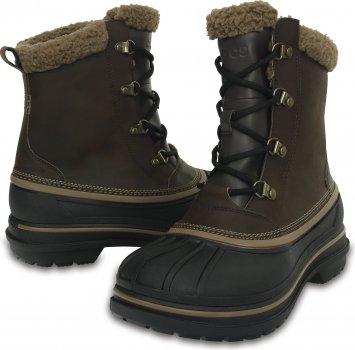 Ботинки Crocs Men's AllCast II Boot 203394-23K Темно-коричневые