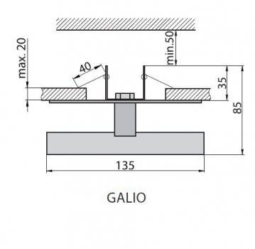Світильник врізний Brilum GALIO білий