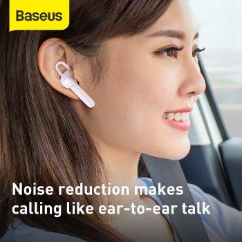 Беспроводная Bluetooth гарнитура Baseus Encok Wirelless Earphones A05 + USB док-станция Белый