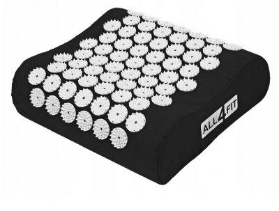 Набор коврик массажно-акупунктурный All4Fit с подушкой, черный (JS3765)