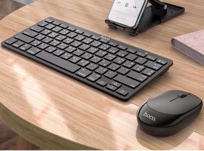 Набір клавіатура (кир.) + миша Hoco DI05, бездротовий black