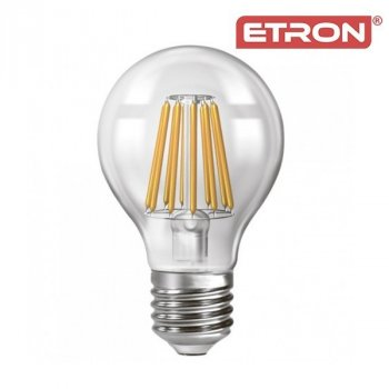 Світлодіодна LED лампа ETRON Filament 15W A60 4200K E27 прозора
