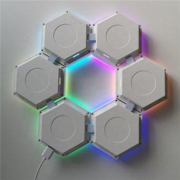 Модульний сенсорний LED світильник на USB зєднаннях х з пультом Quantum. 13 кольорів RGB.