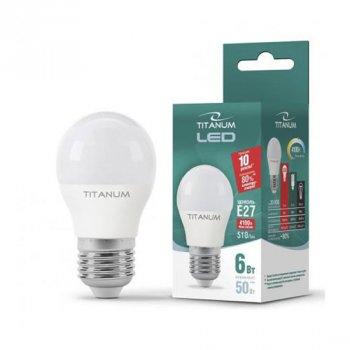 Світлодіодна лампа Videx Titanum TL-G45-06274 (E27/6W/220V/4100K)
