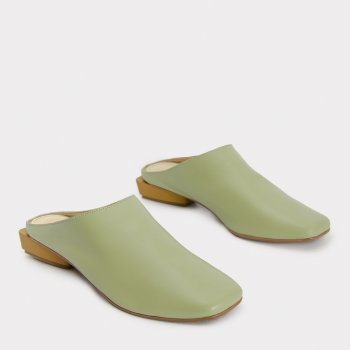Сабо Caruso Shoes Olive 21-00359 Оливковые
