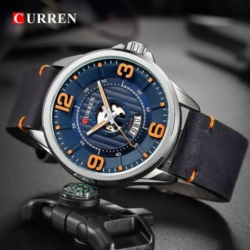 Годинники наручні Curren 8305 Silver-Blue 1008-0181