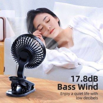 Настольный вентилятор Joyroom 360° 2000mAh аккумуляторный black