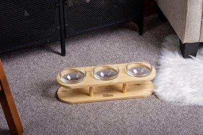 Підставка з мисками для собак і котів Pets Lounge Bowl Black, 3х200 мл