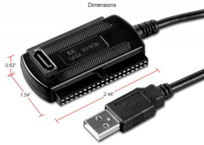 Кабель адаптер USB 3в1 конвертер для SATA IDE HDD