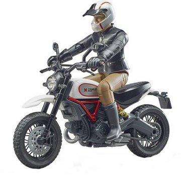 Игровой набор Bruder Фигурка человека с мотоциклом (63051)