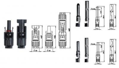 Конектор сонячний MC4 - PV-02 (пара)