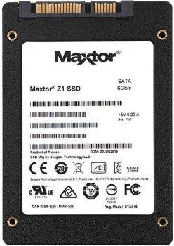 """Накопичувач SSD 240Gb Seagate (Maxtor) Z1, SATA3, 2.5"""", TLC, 540/425 MB/s (YA240VC1A001)"""