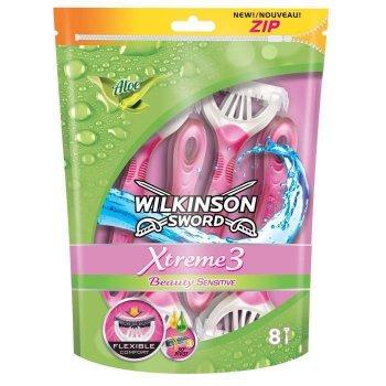 Женские одноразовые станки Wilkinson Xtreme3 Beauty Sensitive (8шт.) 01610