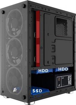 Корпус 1stPlayer X2-3R1 Color LED Black без БП